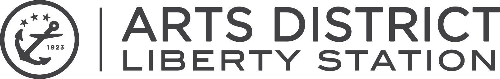 ARTS DISTRICT Liberty Station - Horizontal Full Logo Grey