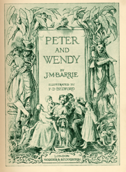 PETER AND WENDY book illustration