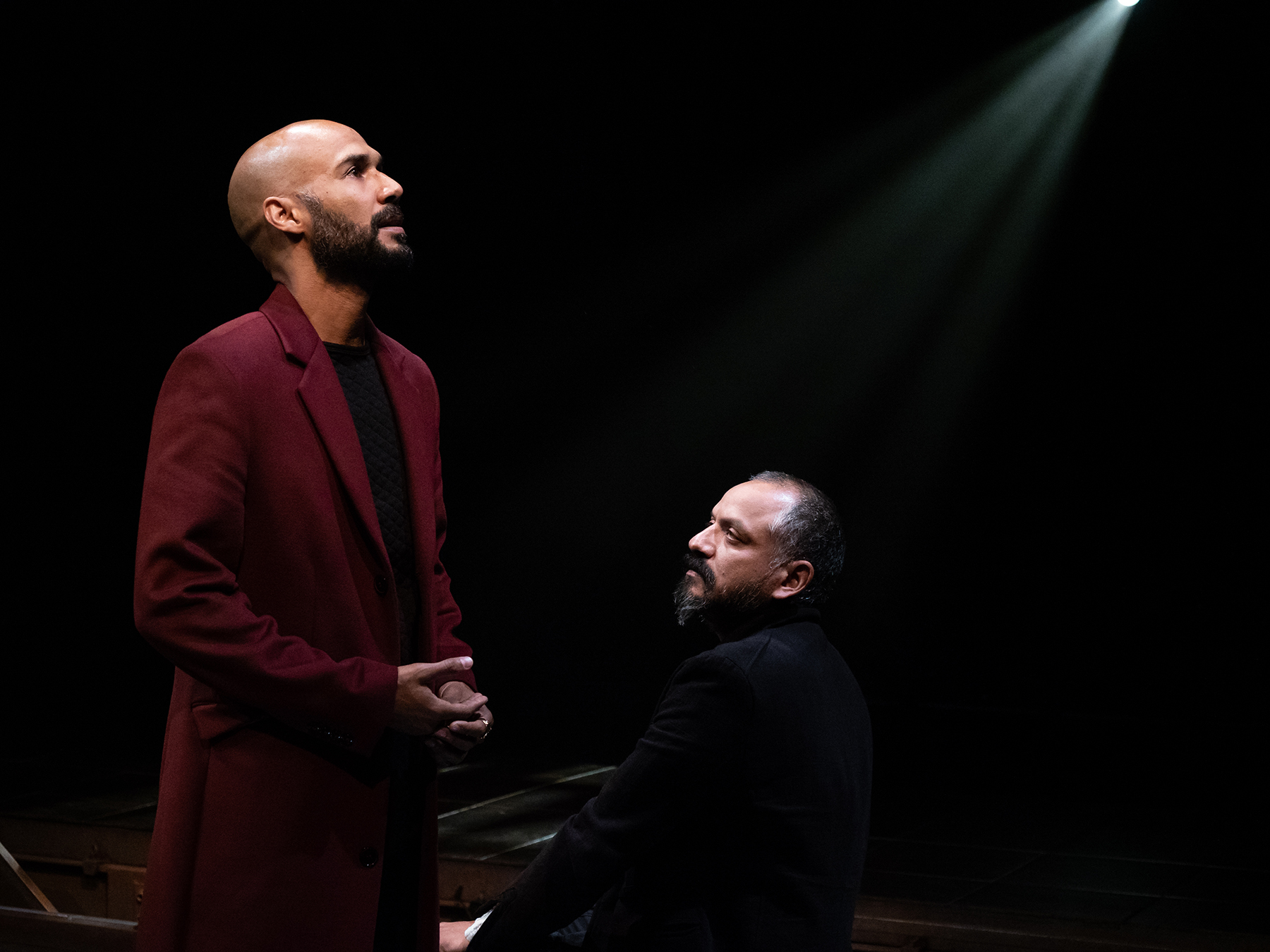 Luis Vega and Jesse J. Perez (right) in SEIZE THE KING; photo by Jim Carmody