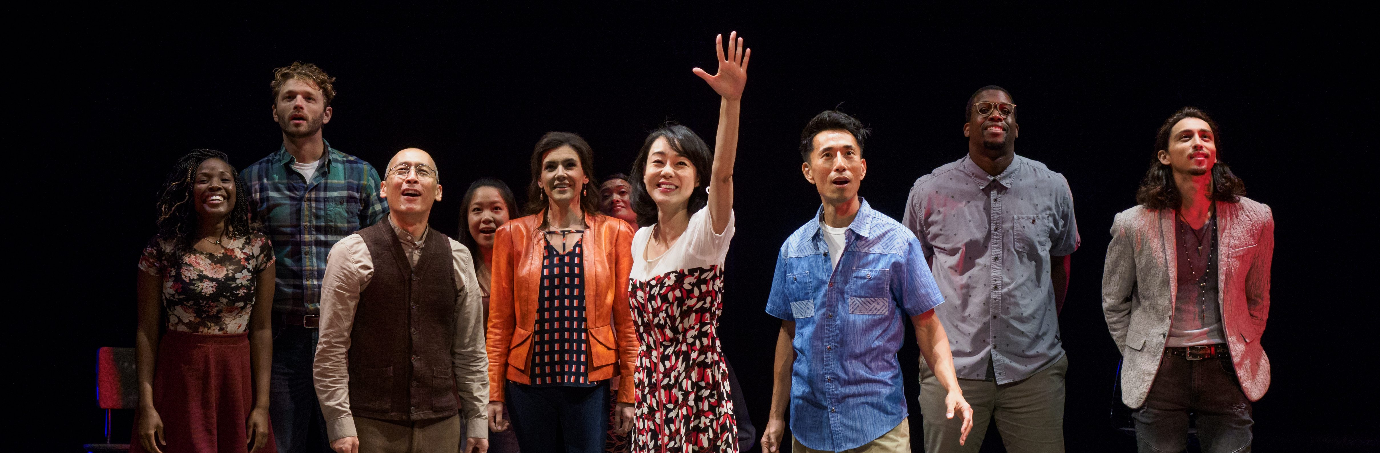 The cast of WILD GOOSE DREAMS at La Jolla Playhouse, photo by Jim Carmody