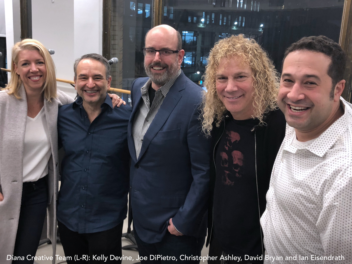 Diana Creative Team: Kelly Devine, Joe DiPietro, Christopher Ashley, David Bryan and Ian Eisendrath