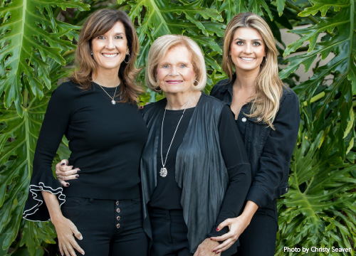 La Jolla Playhouse 2019 Gala Chairs Debby Jacobs, Joan Jacobs and Lindsey Jacobs