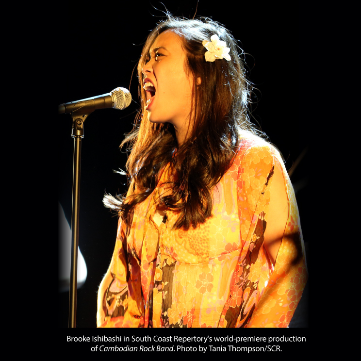 Brooke Ishibashi in South Coast Repertory's world-premiere production of <em>Cambodian Rock Band</em>. Photo by ​Tania Thompson/SCR.
