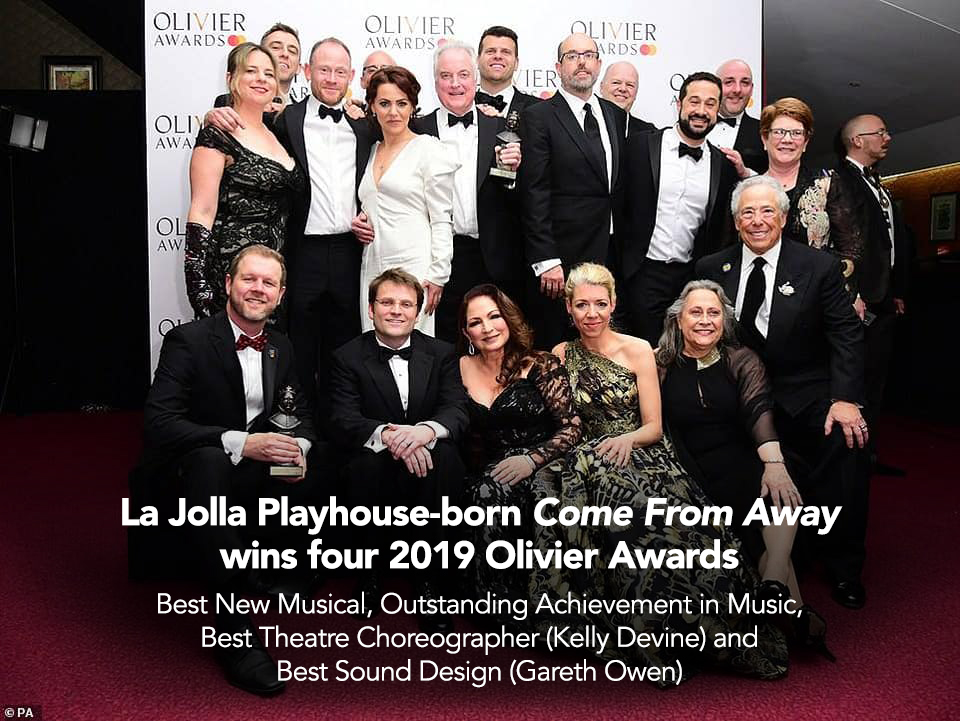 La Jolla Playhouse-born Come From Away wins four 2019 Olivier Awards