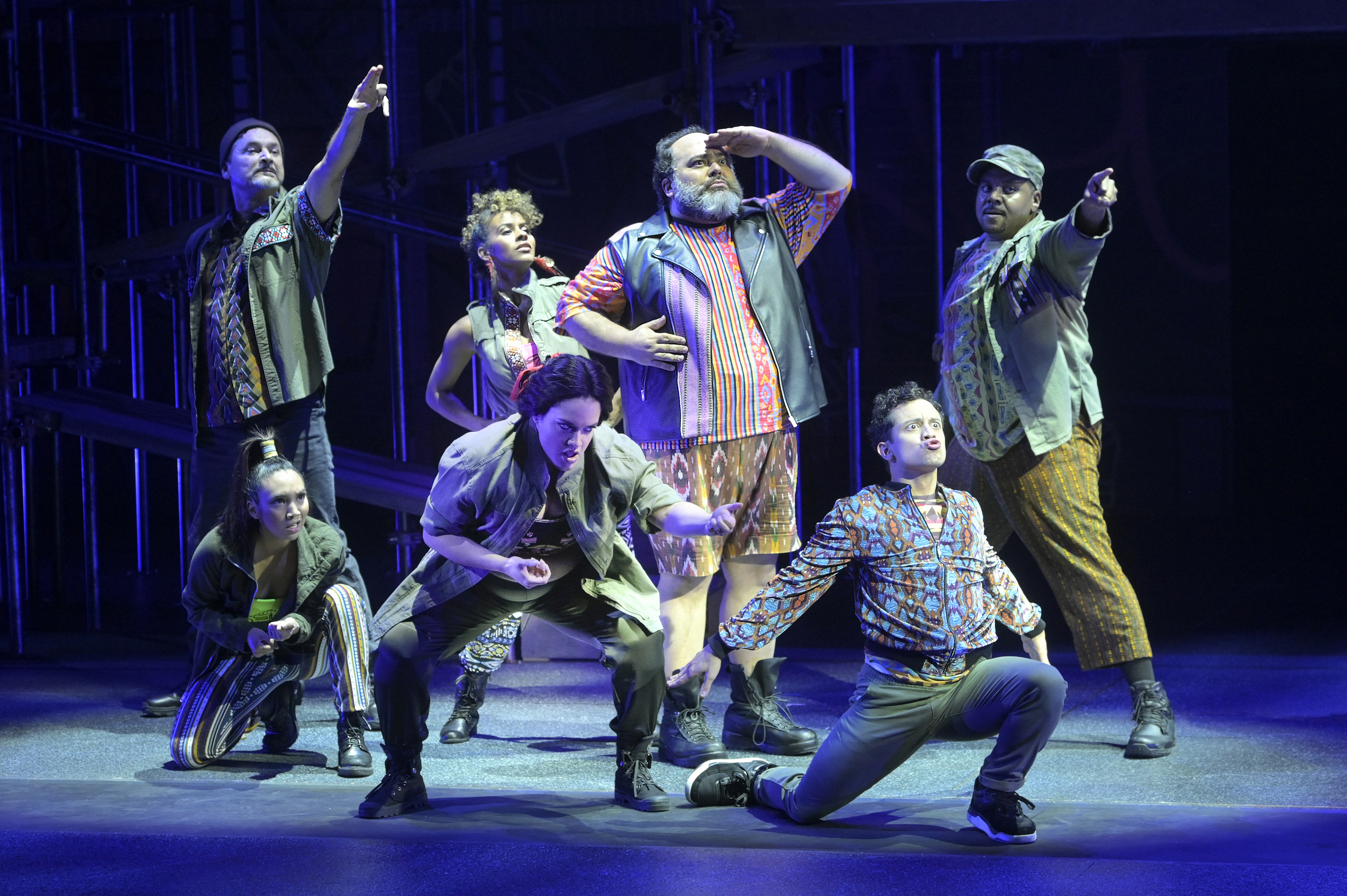 The cast of KISS MY AZTEC!, photo courtesy of Alessandra Mello/Berkeley Repertory Theatre