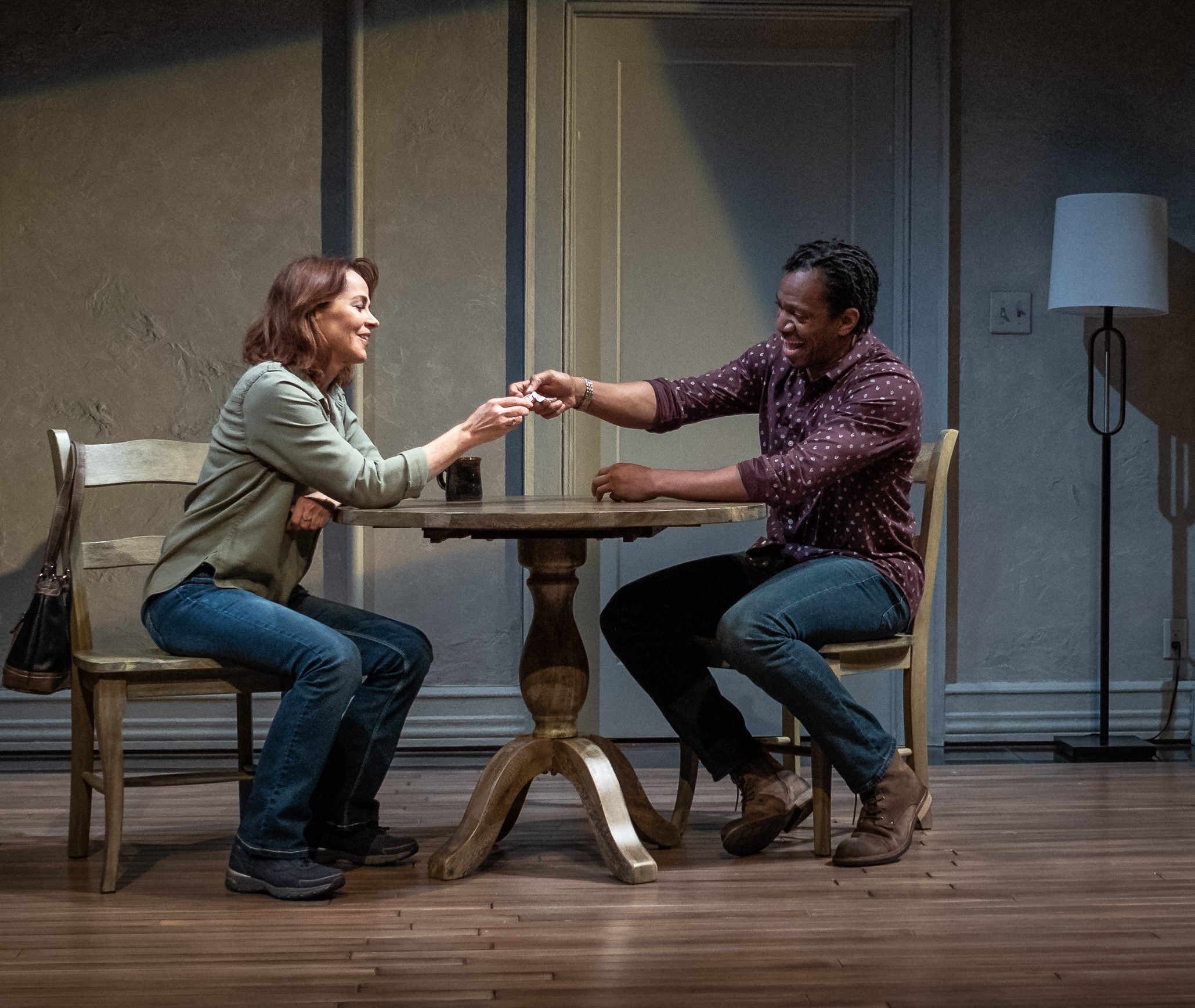 Deirdre Lovejoy and Reggie D. White in THE LUCKIEST; photo by Jim Carmody